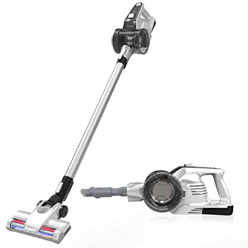 Aiper Cordless Stick Vacuum Cleaner, 2 in 1 Vacuum Cleaner with 9Kpa Powerful Suction, Detachable Long-Lasting Battery and LED Brush