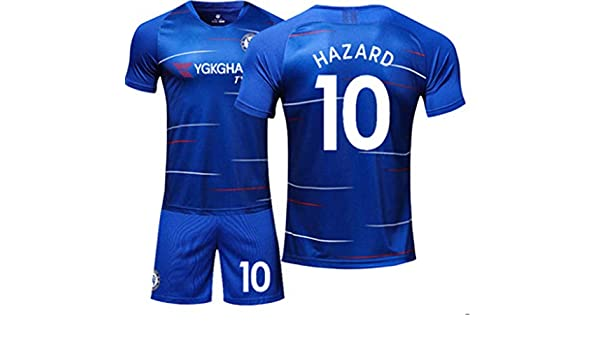 03bc39fd4fe Amazon.com: LISIMKE Soccer Team Home 2018/19 Chelsea Hazard #10 Kid Youth  Replica Jersey Kit : Jersey & Shorts & Socks: Clothing