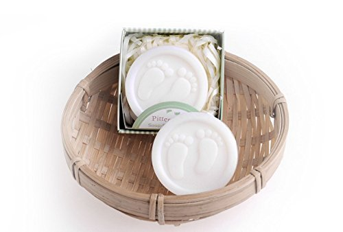 MHGS Lovely Handmade Pitter Patter Soap Favors for Baby Shower or Wedding Gift Soap, (Pitter Patter Baby Shower)
