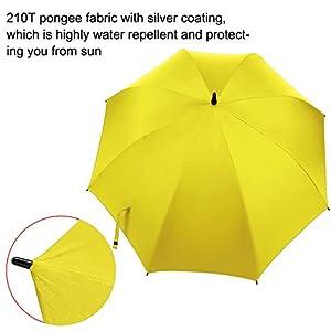 Rainlax Windproof Golf Umbrella 62 inch Automatic Open Large Sun Umbrellas (Yellow)