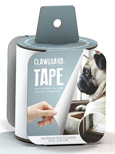 CLAWGUARD Protection TAPE - Ultimate Pet Shield for Window Sill, Furniture, Glass, Weather Stripping and more (Clear)