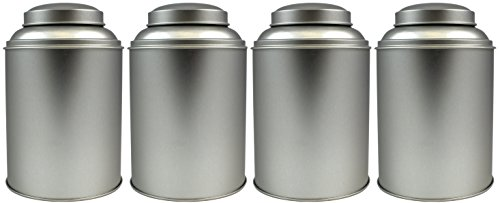 4-Pack Tea Storage Tins, Large Tea Storage Tins with Stay Fresh Double Lids (Set of 4) (Loose Leaf Tea Storage Containers compare prices)