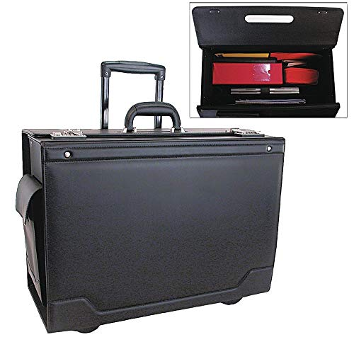 (Stebco Leather/Tufide/Steel Roller Laptop Case Fits Laptop Up to 17