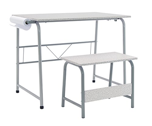 Studio Designs Project Center, Kids Craft Table with Bench In Gray/Spatter 55128 by Studio Designs