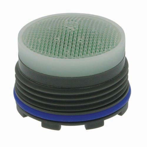 "Neoperl 13 0240 5 Economy Flow PCA Cache Perlator HC Aerator, Tiny Junior Size, 1.5 GPM, Green/Clear Dome, Honeycomb Screen, Aerated Stream, M18.5 x 1 Threads, Plastic, 0.561"" Height"