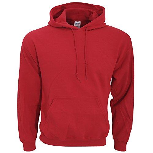 Gildan Men's Heavy Blend Drawcord Hooded Sweatshirt, Large, Garnet