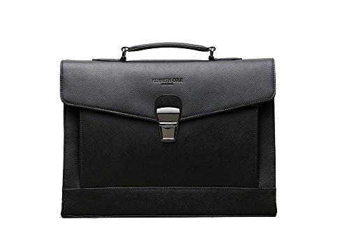Kenneth Cole New York Business Saffiano Leather RFID Blocking Flapover (Kenneth Cole New York Pull)
