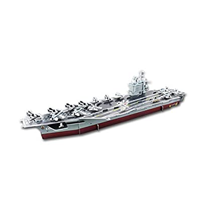 Happy Cherry 3D Kids Model Puzzle Jigsaw Assembly Early-education Puzzle Toys - Nimitz Aircraft Carrier