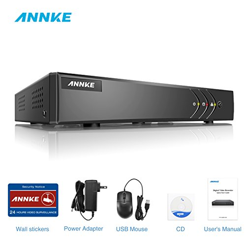 ANNKE 8CH 4-in-1 TVI 1080P Lite Surveillance Security System Digital Video Recorder, HDMI Output, Quick QR Code Scan and Easy Remote View for Home Security Camera System, NO HDD(Refurbished)