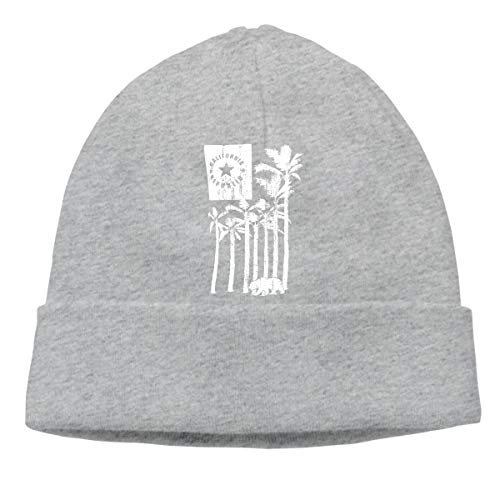 Hat California Republic Better On The West Unisex Cuff Beanie Cap Wool Warm Slouchy Perfect Stretchy & Soft Gray ()