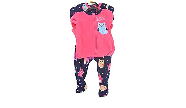 New Sealed Package Boys Girls Absorba 2-pack Soft Blanket Sleeper Sleepwear OWL