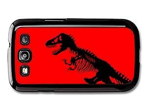 Jurassic Park Black T-Rex Dinosaur on Red Bakground carcasa de Samsung Galaxy S3 A8551