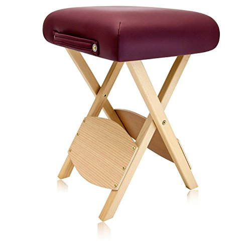 Dr.lomilomi Wooden Folding Massage Stool 511 (Burgundy)