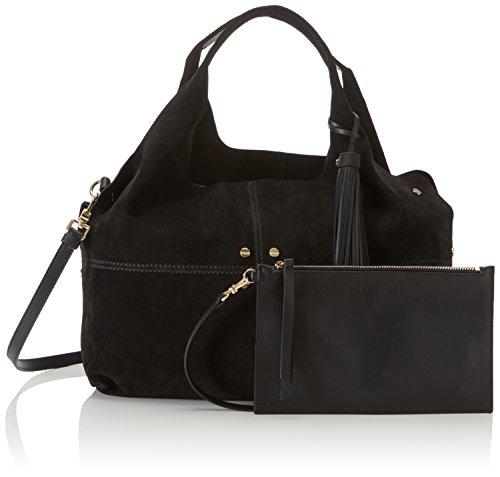 Borbonese Savile C/T - Shoppers y bolsos de hombro Mujer Negro (Nero)