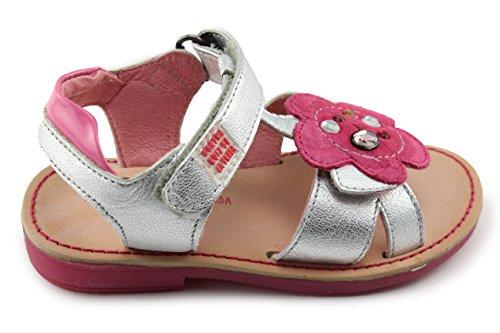(Agatha Ruiz De La Prada Silver Girl Leather Sandals (142946 Plata) (5.5-6.5 Toddler))