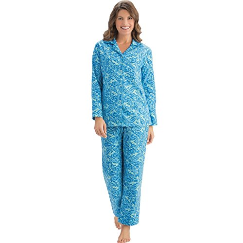 Womens Paisley Flannel Pajamas Set