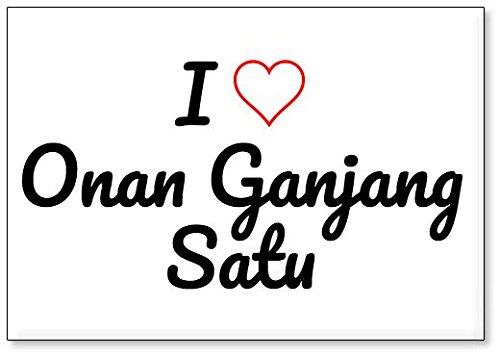 Price comparison product image I Love Onan Ganjang Satu, fridge magnet (design 2)