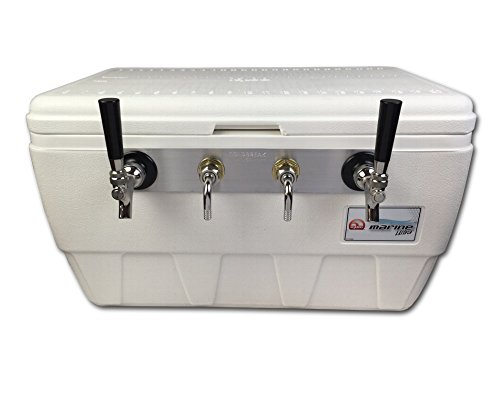 Coldbreak Brewing Equipment CBJBMBE2T Jockey Box, 2 Tap, Marine Bartender Edition, 48 quart Cooler, 50-foot Coils, 0.25'' ID, Sizenameinternal'' OD, Stainless Steel by Coldbreak Brewing Equipment (Image #2)