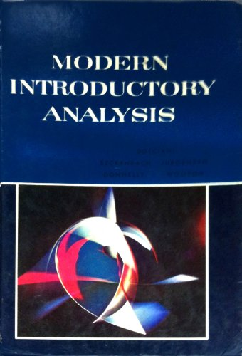 Modern Introductory Analysis