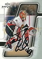 Autograph Warehouse 66418 Patrick Lalime Autographed Hockey Card Ottawa Senators 2001 Upper Deck Mvp No. 133