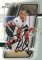Autograph Warehouse 66418 Patrick Lalime Autographed Hockey Card Ottawa Senators 2001 Upper Deck Mvp No. 133