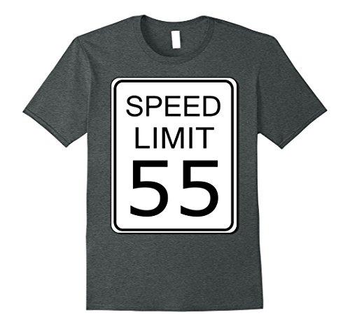 Last Minute School Appropriate Halloween Costumes (Mens Speed Limit 55 Sign Simple Easy Halloween Costume T-Shirt XL Dark Heather)
