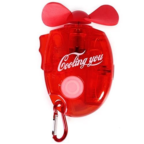 Cheapest Price! SKNBC Carabiner Water Misting Fan Portable Mini Fan Red