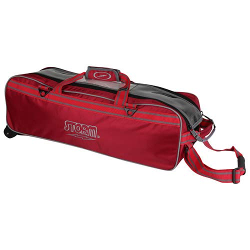 Storm 3 Ball Tournament Tote, Red/Black