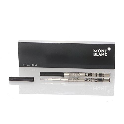 Montblanc Ballpoint Pen Refill Mystery Black B (bold), 2 pieces