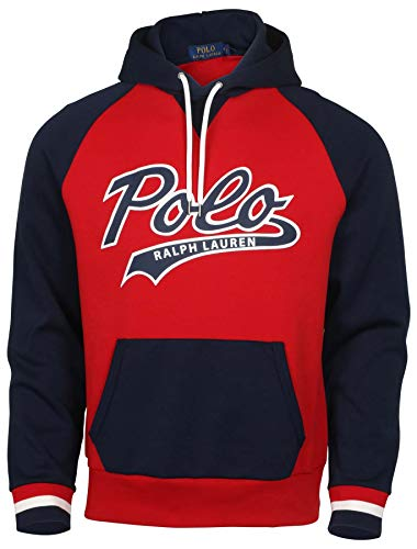 Chest Graphic Polo - Polo RL Men's Polo Graphic Pullover Hoodie (Small, Rl Red/Navy)