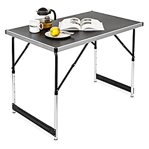 Multi purpose aluminium folding table side table camping - Camping table adjustable height ...