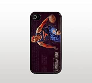 Carmelo Anthony For Iphone 5/5S Phone Case Cover - Hard Plastic Snap-On Custom Cover - Black - Basketball