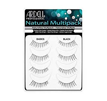 1ce8ea694dc Amazon.com : Ardell Natural Style Babies Multipack Eye Lashes, Black by  Ardell : Beauty