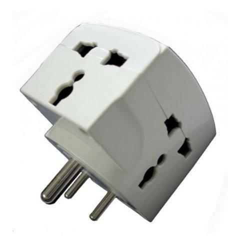 Linetek 3 Pin Multiplug Universal Socket 220V: copper: Amazon.in ...