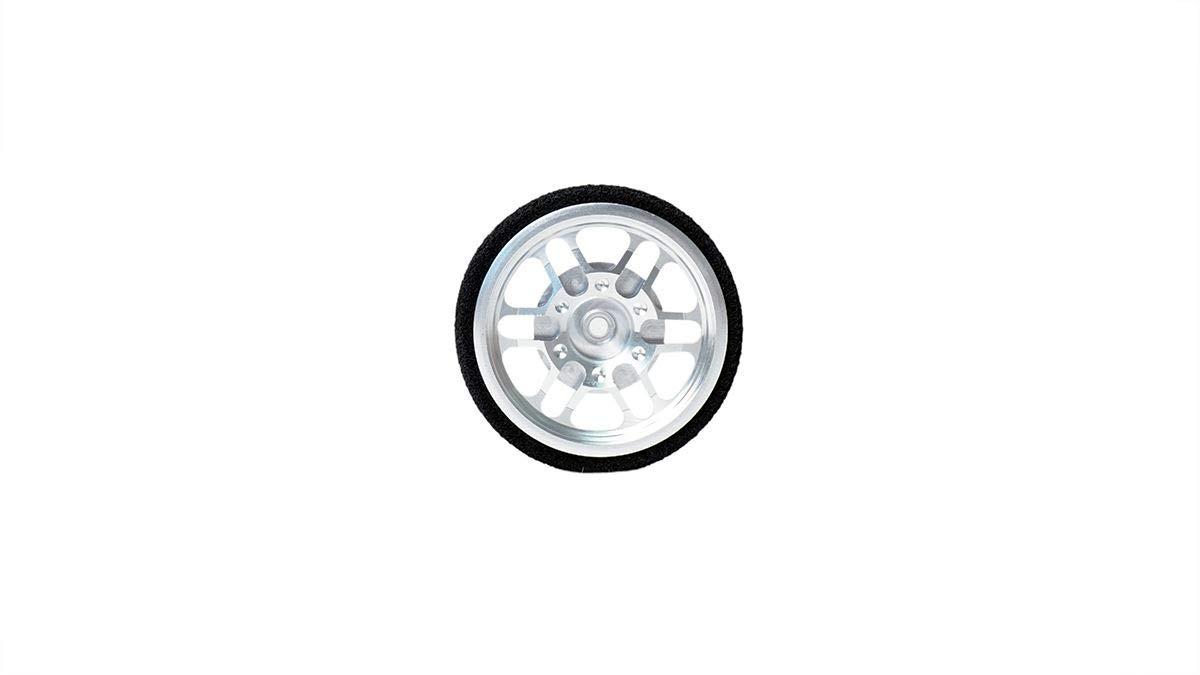 Racers Edge 1105 Machined Aluminum Steering Wheel Sanwa Silver RCE1105