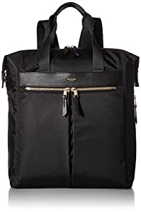 "Knomo Mayfair Chiltern, 15.6"" Lightweight Water-Resistant Laptop Tote Backpack, with Device Protection, Suitcase Slip Pocket, RFID Pocket and KNOMO ID, Black"