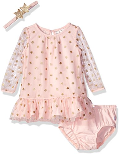 Rosie Pope Baby Foil Printed Dress with Star Headband, Rose, 24 Months