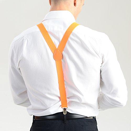 Orange Réglables Couleurs Adam Bretelles Et amp; Plusieurs Féminin Colorées Eesa Masculin Fluo H0wvxH6q