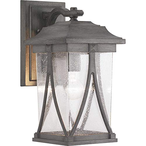 Progress Lighting P560114-103 Abbott Collection One-Light Medium Wall Lantern Antique Pewter ()