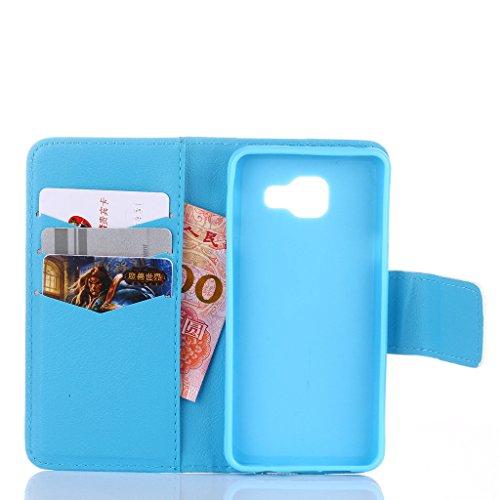 Qimmortal - Funda tipo cartera para Samsung Galaxy S7, piel sintética, diseño colorido, función atril plegable magnética, con tarjetero, incluye protector de pantalla de cristal templado, piel sintéti azul elefante