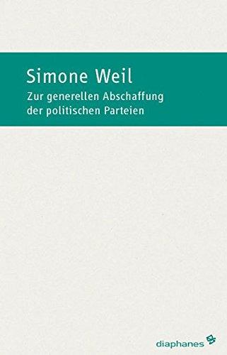 Anmerkung zur generellen Abschaffung der politischen Parteien (hors série)