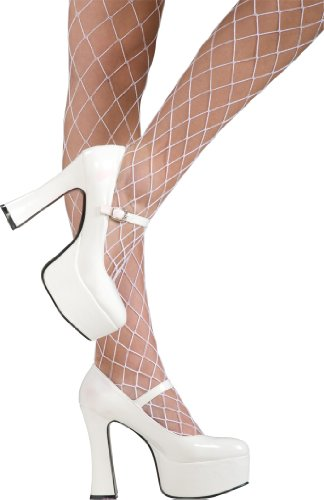 Secret Wishes  Sexy White Mary Janes, White, Large (Jane White Adult Shoes)