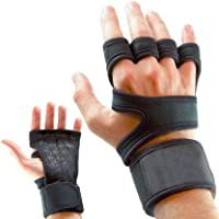 Leosportz Workout Gloves with Wrist Support for Gym Workouts, Pull Ups, Cross Training, Weightlifting, Calisthenics, WOD, Exercise - Silicone Padding - Great Hand Grip & No Calluses