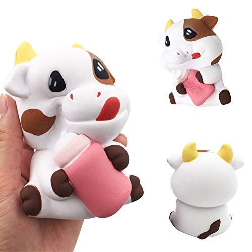 Milk Cow Stress Ball - Seplegend Cute Cow Milk Bottle Squishy Slow Rising Relieve Stress Kids Adult Squeeze Toy
