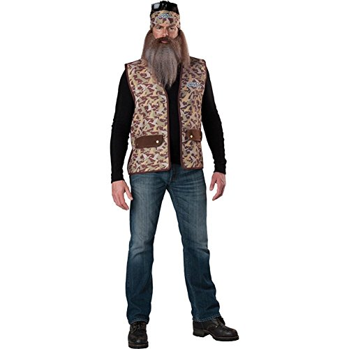 Duck Dynasty Men's Phil Costume, Camouflage, One Size