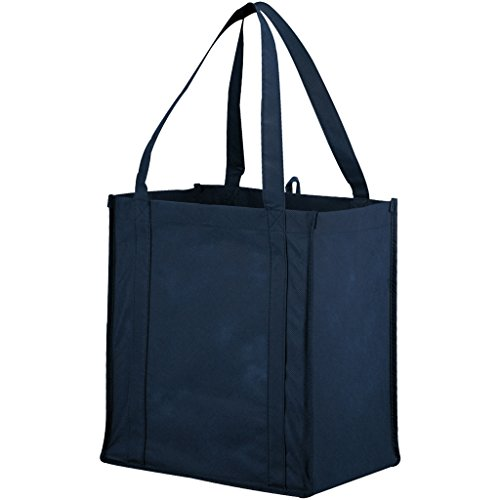 Bullet The Non Woven Little Juno Grocery Tote (Pack of 2) (12 x 8 x 13 inches) (Navy)