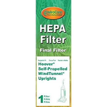 Final Filter for Hoover Windtunnel Pleated HEPA w/activated Charcoal Vacuum Filter, Upright, Self propelled Vacuum Cleaners