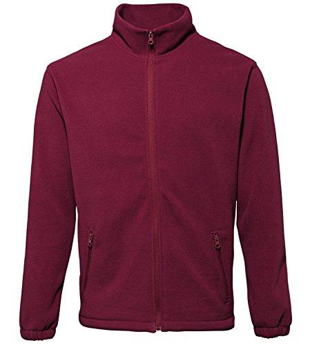 Camisa de Sports Collazip manga para larga Burdeos Comfort hombre Up 2786 Fleece Aq5dA