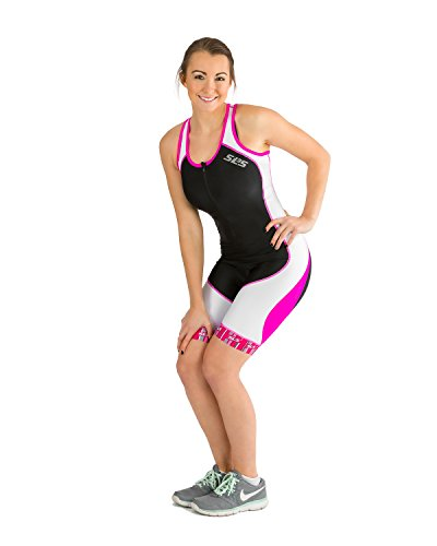 SLS3 Women`s Triathlon Tri Race Suit FX | Womens Trisuit | Back Pocket | Anti friction Seams | German Designed