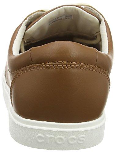crocs Herren Citilane Leather Lace-up Men Low-Top Beige (Tan/White)